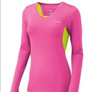 Brooks Equilibrium II Pink and Yellow Long Sleeve